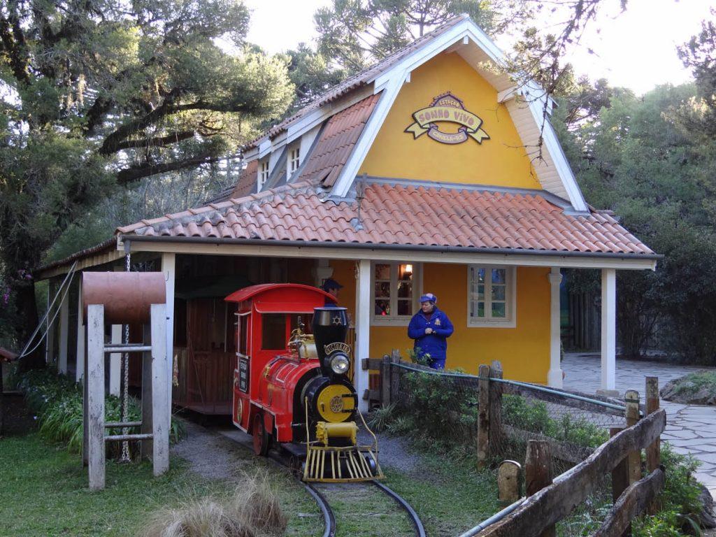 Parque do Caracol: trenzinho - Mapa de Grramado. Foto: Bárbara Keller
