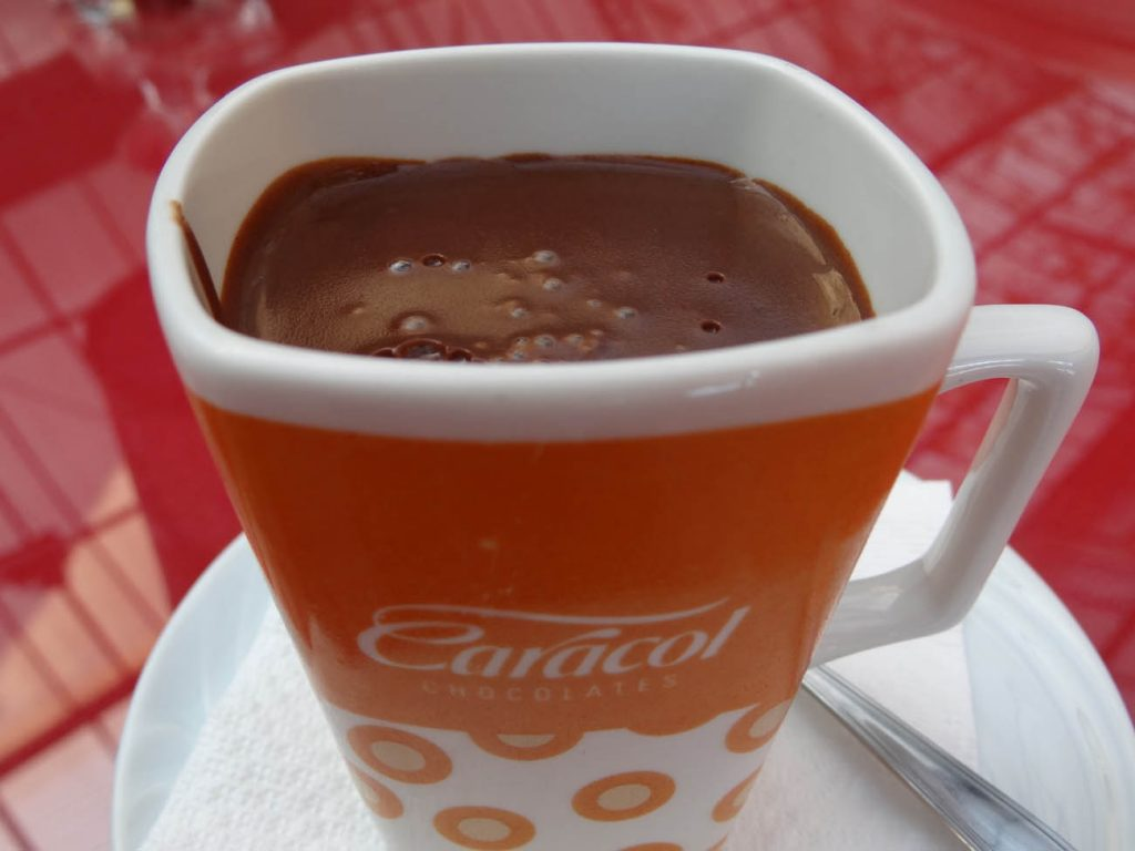 Caracol Chocolates: chocolate quente - Mapa de Gramado. Foto: Bárbara Keller