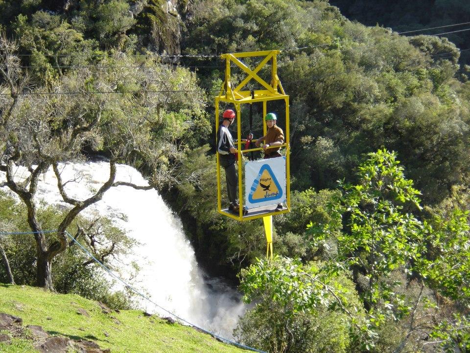 Parque da Cachoeira: travessia de gaiola - Mapa de Gramado. Foto: Divulgação, facebook Parque da Cachoeira