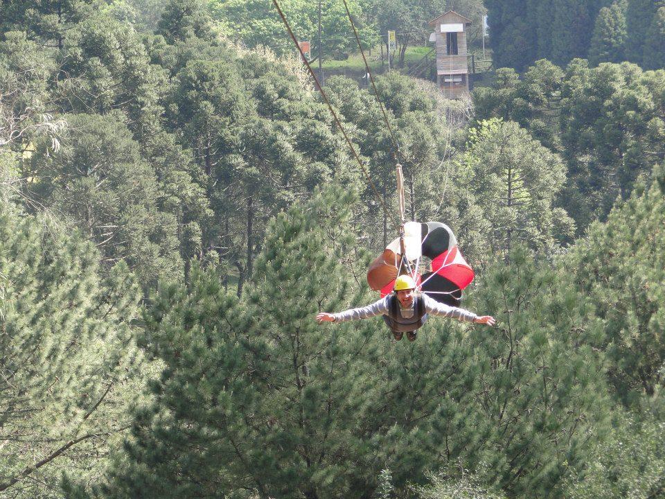 Estação Verde Adventure Park: Tirolesa Superman - Mapa de Gramado. Foto: Divulgação, facebook Estação Verde Adventure Park
