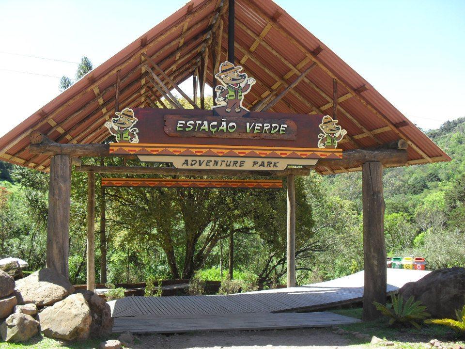 Estação Verde Adventure Park - Mapa de Gramado. Foto: Divulgação, facebook Estação Verde Adventure Park