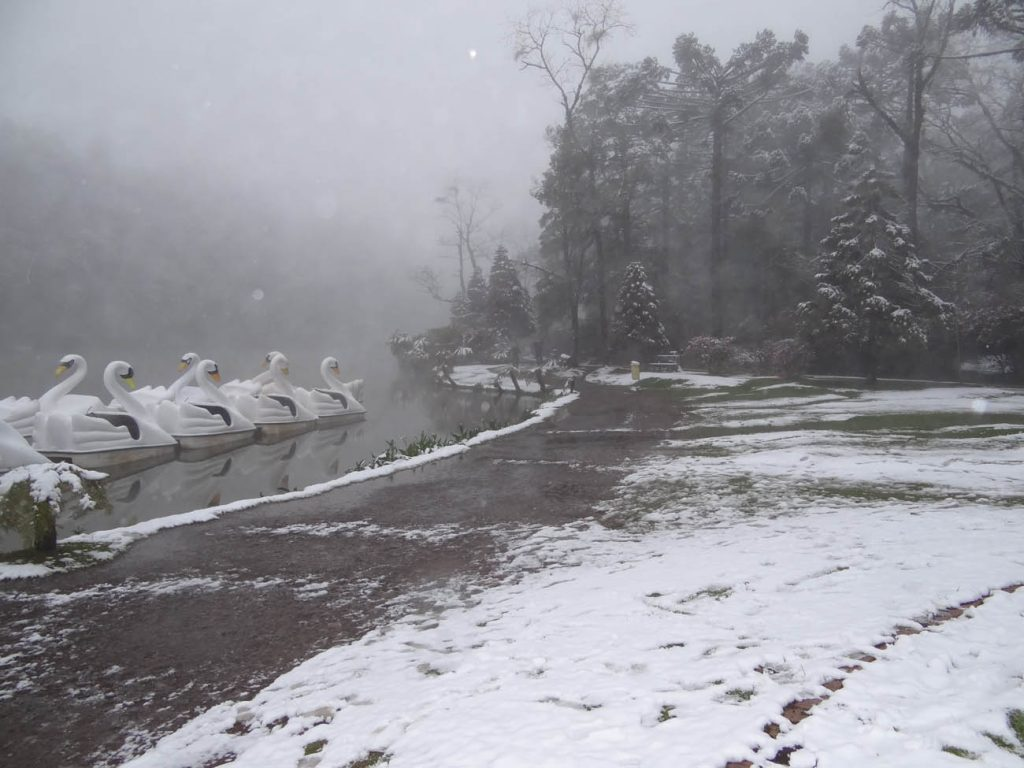 Neve em Gramado - Mapa de Gramado. Foto: Bárbara Keller