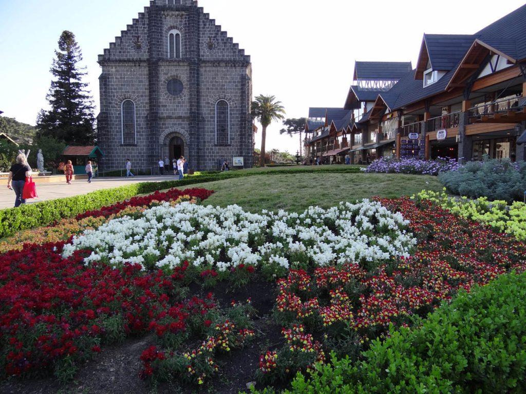 Primavera em Gramado: Igreja São Pedro - Mapa de Gramado. Foto: Bárbara Keller