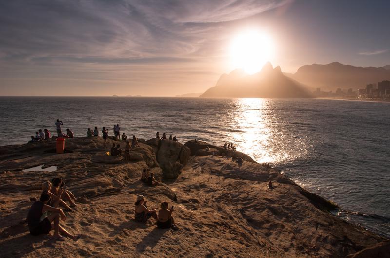 Praia do Arpoador no Rio de Janeiro