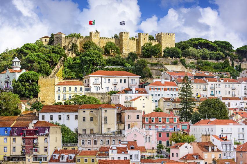 Castelo de São Jorge: o ponto mais alto de Lisboa. Foto: iStock, Getty Images