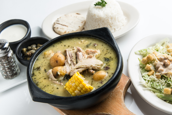 Ajiaco é uma comida colombiana