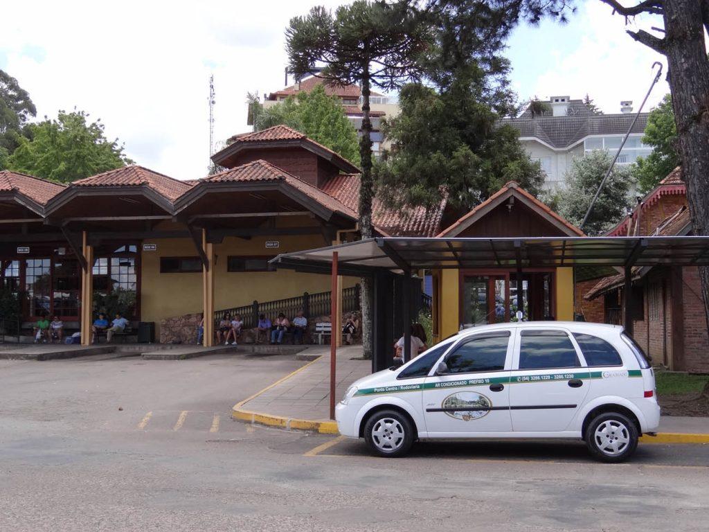Pontos de táxi em Gramado: Rodoviária - Mapa de Gramado. Foto: Bárbara Keller
