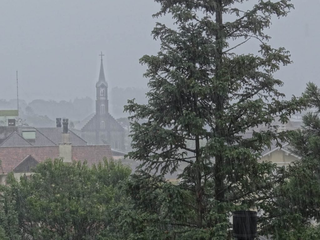 Gramado com chuva - Mapa de Gramado. Foto: Bárbara Keller