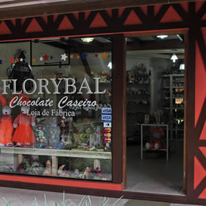Chocolate Florybal: loja centro Gramado - Mapa de Gramado. Foto: Divlgação, site Chocolate Florybal