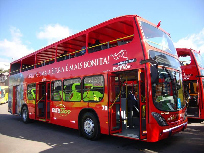 Ônibus Turístico: nova atração de Gramado e Canela - Mapa de Gramado. Foto: Divulgação