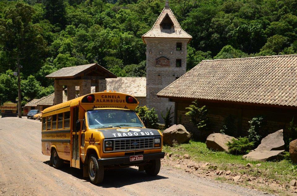 Flor do Vale - Alambique e Parque Ecológico: Trago Bus - Mapa de Gramado. Foto: Diego Maciel Neves / Facebook Flor do Vale
