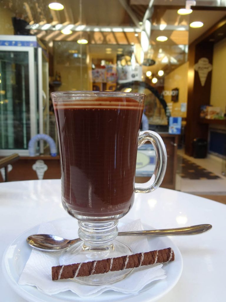 Chocolate Quente Gelateria Veneta - Mapa de Gramado. Foto: Bárbara Keller