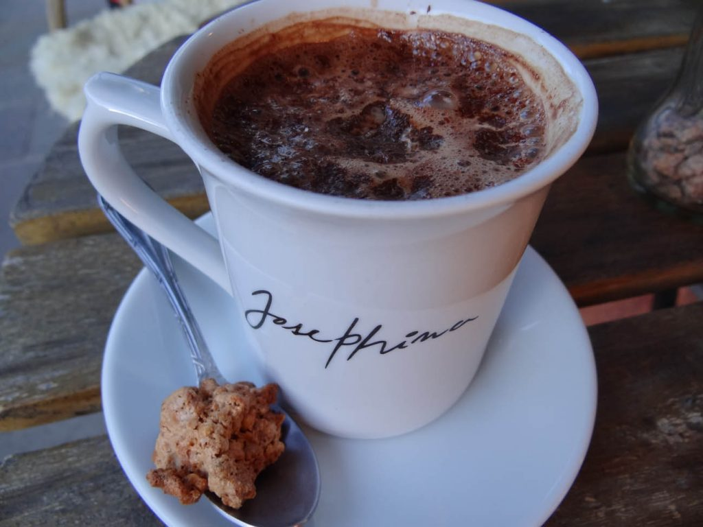 Chocolate quente Josephina Café - Mapa de Gramado. Foto: Bárbara Keller