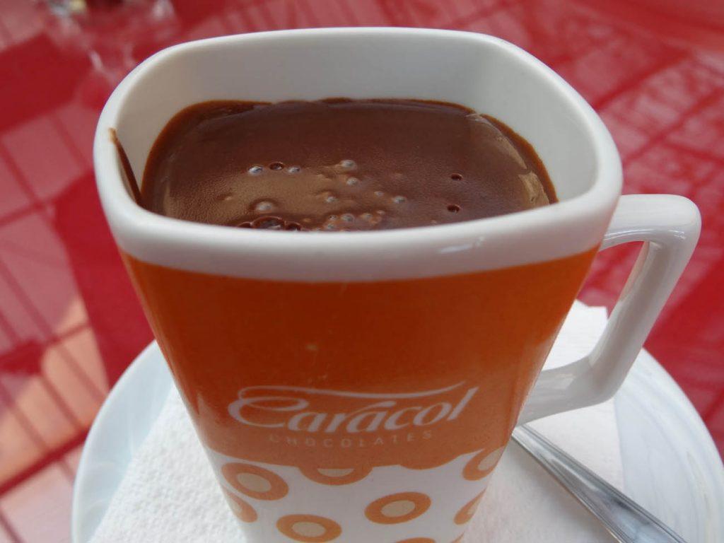 Chocolate quente Caracol - Mapa de Gramado. Foto: Bárbara Keller
