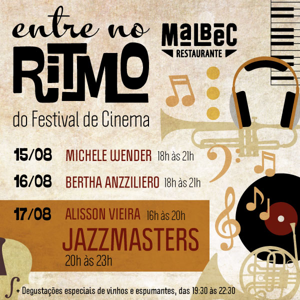 Malbec Restaurante: programação especial Festival de Cinema - Mapa de Gramado. Foto: Divulgação