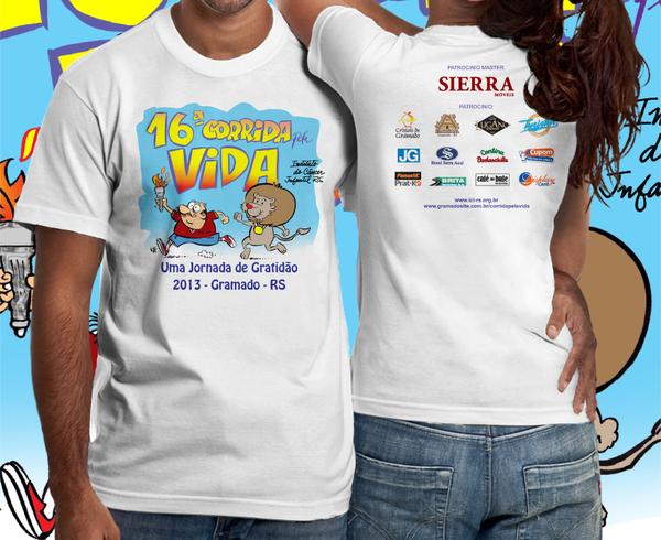 16ª Corrida pela Vida de Gramado: camiseta - Mapa de Gramado. Foto: Divulgação