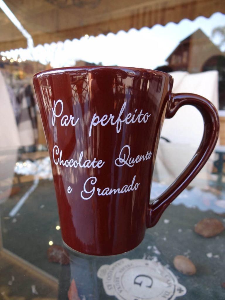Chocolate quente da Casa da Velha Bruxa - Mapa de Gramado. Foto: Bárbara Keller