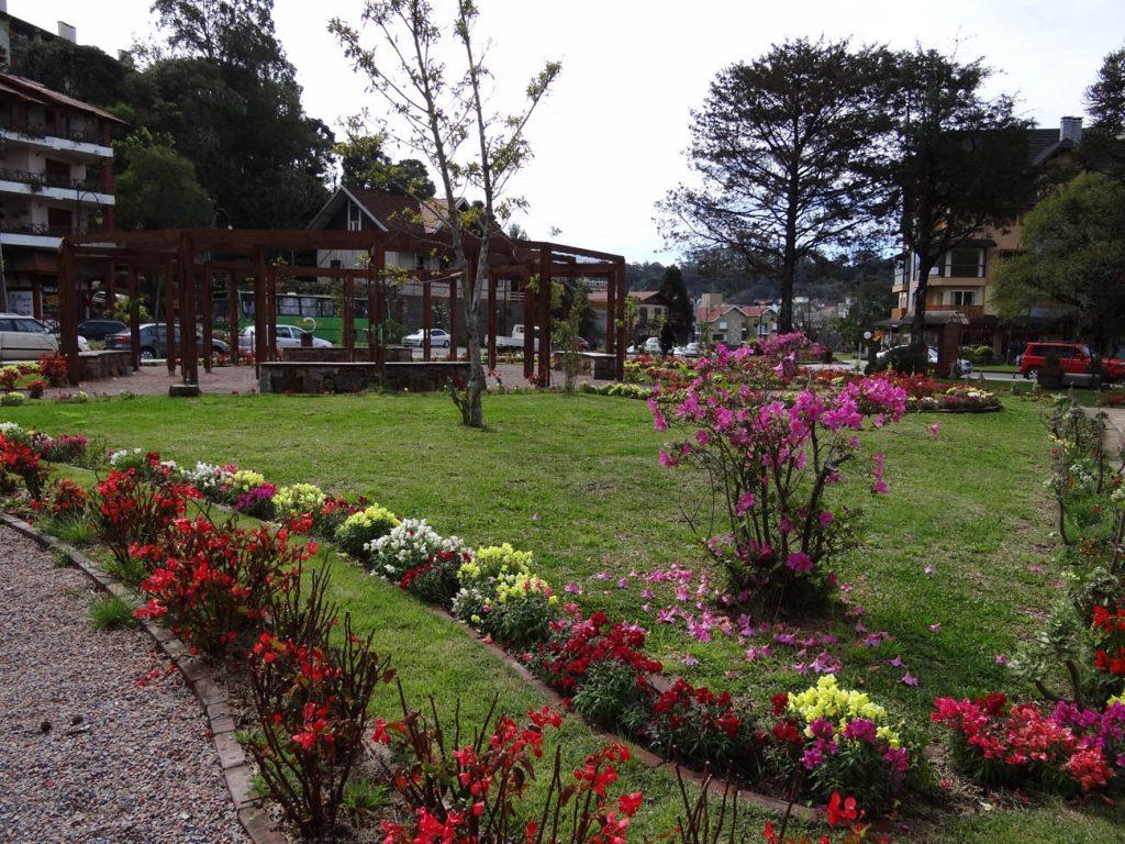 Primavera em Gramado: Praça das Etnias - Mapa de Gramado. Foto: Bárbara Keller