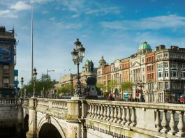 O'Connell Street, em Dublin. Foto: iStock, Getty Images