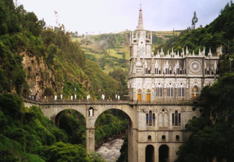 Las Lajas Church na Colômbia