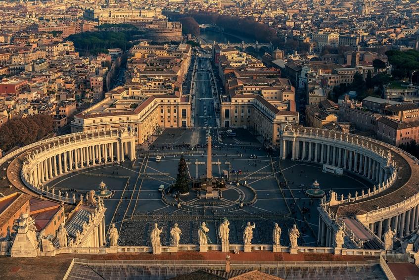 Vista aérea da Cidade do Vaticano